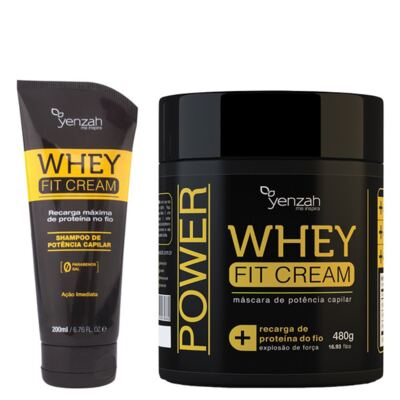 Imagem 1 do produto Kit Shampoo+ Máscara Yenzah Power Whey Fit Cream - Kit