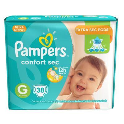 Imagem 1 do produto Fralda Descartável Pampers Confort Sec G 38 Unidades
