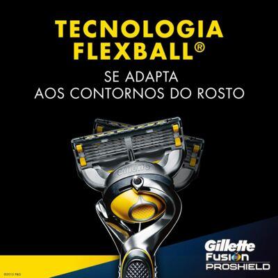 Imagem 3 do produto Aparelho de Barbear Gillette Fusion Proshield Flexball