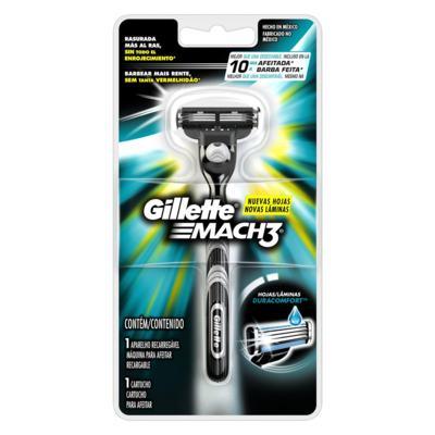 Imagem 2 do produto Aparelho de Barbear Mach3 Gillette - 1 Un