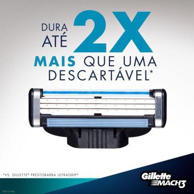 Imagem 5 do produto Aparelho de Barbear Mach3 Gillette - 1 Un