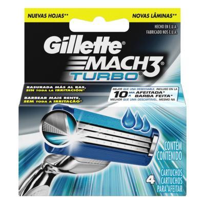 Imagem 1 do produto Carga Gillette Mach 3 Turbo - 4 Unidades