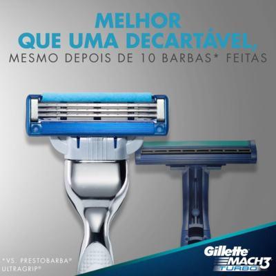 Imagem 5 do produto Carga Gillette Mach 3 Turbo - 4 Unidades