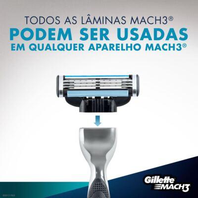 Imagem 5 do produto Carga Gillette Mach3 - 4 Unidades