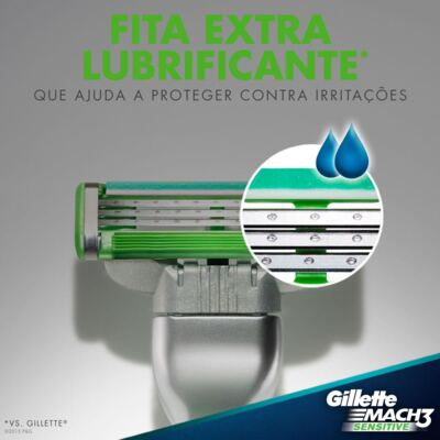 Imagem 4 do produto Carga Gillette Mach 3 Sensitive - 2 Unidades