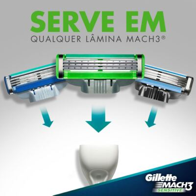 Imagem 7 do produto Carga Gillette Mach 3 Sensitive - 2 Unidades