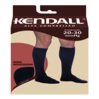 Meia Panturrilha Masculina 20-30 Alta Kendall - MARROM PONTEIRA FECHADA G KENDAL