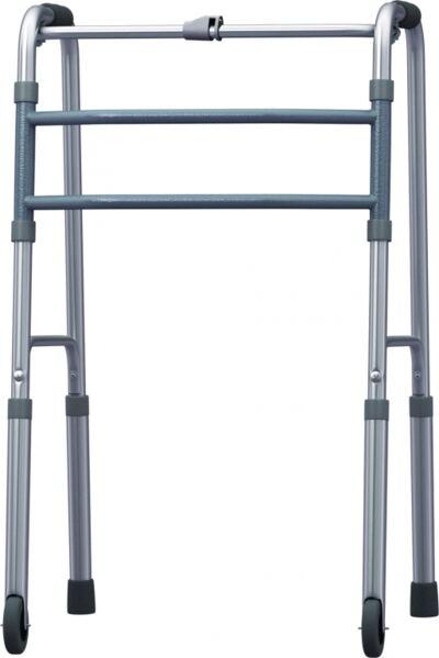 Andador Fixo Dobravel De Aluminio Com Rodas Bc1520 Mercur