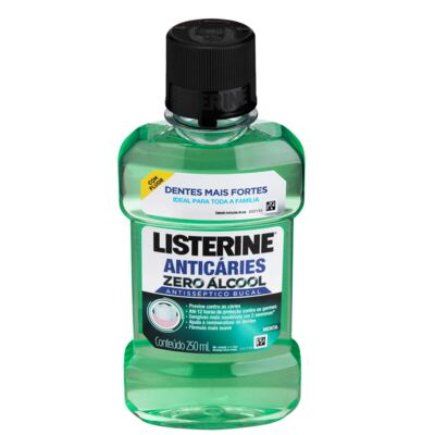 Antisséptico Bucal Listerine Anticáries Zero Álcool 250ml