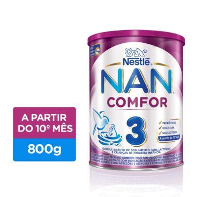 Imagem 1 do produto Fórmula Infantil NAN Comfor 3 - Lata, 800g -