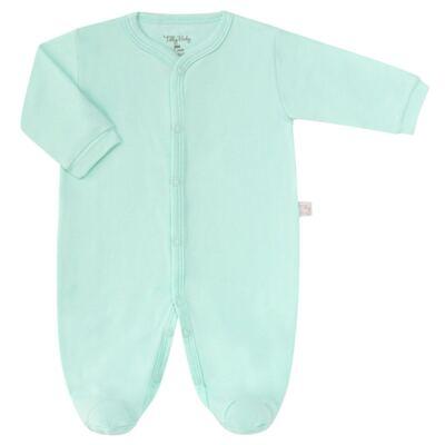 Macacão longo para bebe em suedine Mint - Tilly Baby - TB13113.11 MACACAO BASICO DE SUEDINE VERDE-RN