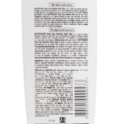 Imagem 5 do produto Hidratante Corporal Neutrogena Body Care Intensive Extra Care - 200ml