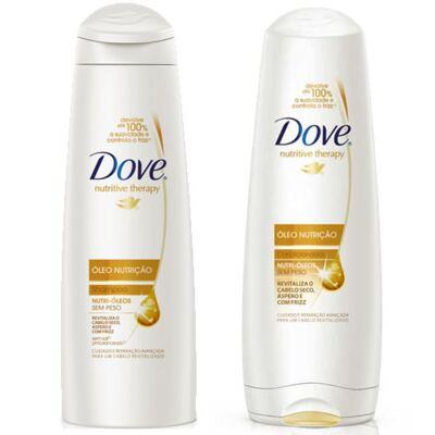 Imagem 1 do produto Shampoo + Condicionador Dove Óleo Nutrição 200ml