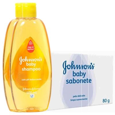 Shampoo Johnson's Baby 200ml + Sabonete Johnson's Baby Regular 80g
