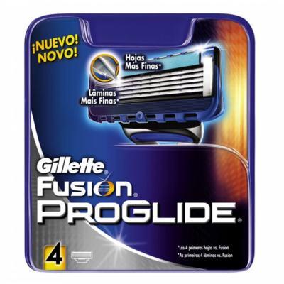 Carga Gillette Fusion Proglide com 4 Cartuchos