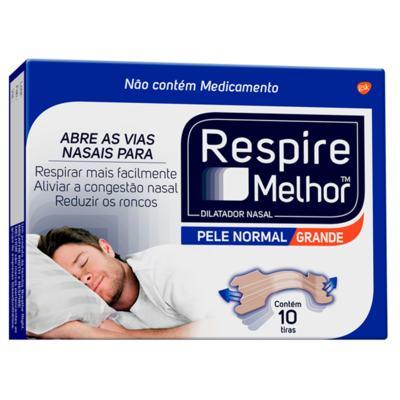 Imagem 1 do produto Respire Melhor Pele Normal Tamanho Grande 10 Tiras