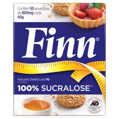 Imagem 1 do produto Adoçante em pó Sucralose Finn - 50 envelopes