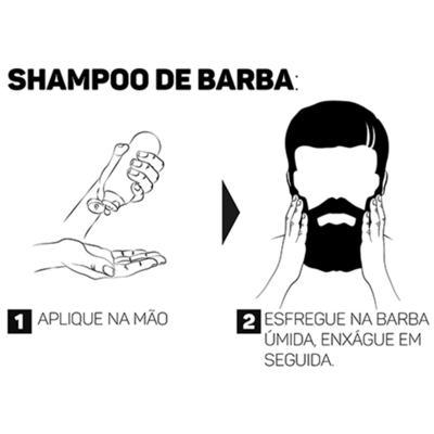 Imagem 4 do produto Shampoo de Barba Cia. da Barba - Shampoo para Barba - 200ml