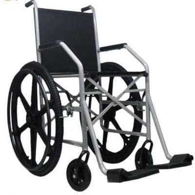 Cadeira de Rodas 1009 Pneu Inflável Cinza Jaguaribe
