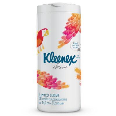 Lenço de Papel Kleenex Tubo Misto 50 Folhas