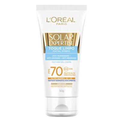 Imagem 1 do produto Protetor Solar L'Oréal Paris Solar Expertise Facial Toque Limpo com Cor FPS 70 - 50ml