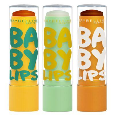 Kit Hidratante Labial Maybelline Baby Lips Super Frutas - Abacaxi-Hortelã + Limão + Cacau