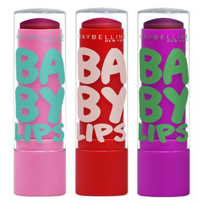 Kit Hidratante Labial Maybelline Baby Lips Super Frutas - Melancia + Morango-Acerola + Uva-Açaí