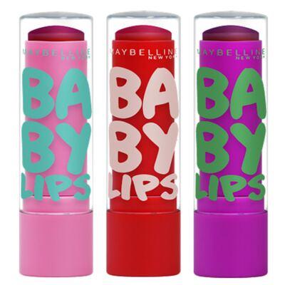 Imagem 1 do produto Kit Hidratante Labial Maybelline Baby Lips Super Frutas - Melancia + Morango-Acerola + Uva-Açaí