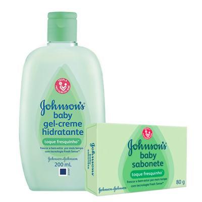 Imagem 1 do produto Kit Johnson's Baby Toque Fresquinho Loção Hidratante 200ml + Sabonete em Barra 80g
