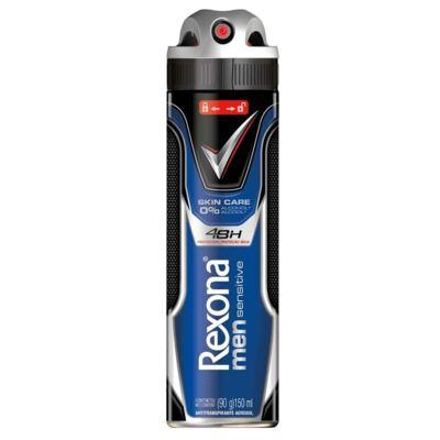Imagem 1 do produto Desodorante Aerosol Rexona Men Sensitive Skin Care 150ml