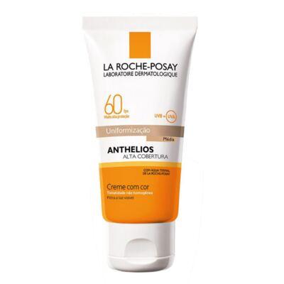 Protetor Solar Cor Média La Roche-Posay Anthelios Alta Cobertura FPS 60 50ml