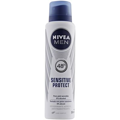 Desodorante Antitranspirante Nivea Men - Sensitive Protect Aerosol | 150ml