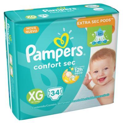 Imagem 4 do produto Fralda Pampers Confort Sec - XG, 34 unidades -