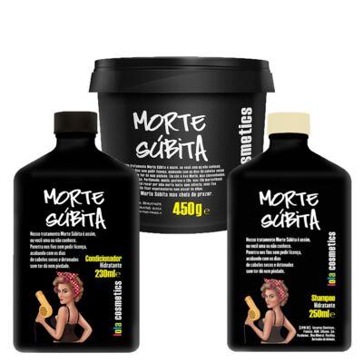 Imagem 1 do produto Kit Shampoo + Condicionador + Máscara Capilar Lola Cosmetics Morte Súbita - Kit