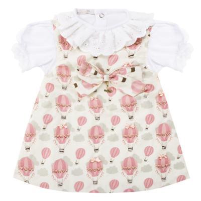 Vestido c/ Body curto para bebê Balloon - Roana