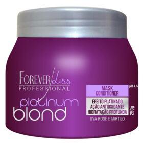 Mascara Capilar Forever Liss Platinum Blond - Matiza Os Cabelos Louros Efeito Platinado   250g