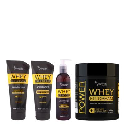 Kit Shampoo + Condicionador + Máscara Yenzah Power Whey Fit Cream - Kit