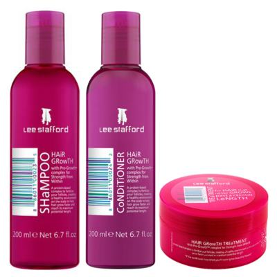 Imagem 1 do produto Kit Shampoo + Condicionador + Máscara Lee Stafford Hair Growth - Kit
