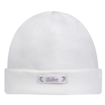 Imagem 1 do produto Touca para bebe em algodão egípcio Branca - Bibe - 10Y05-01 TOUCA BAS CRISTAL BRANCA -RN