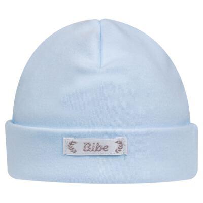 Touca para bebe em algodão egípcio Azul - Bibe - 10Y05-86 TOUCA BAS CRISTAL AZUL-P