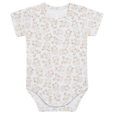 Imagem 4 do produto Pack: 02 Bodies curtos para bebe em algodão egípcio c/ jato de cerâmica Nature Little Friends - Mini & Classic - 1024650 PACK 2 BODIES MC SUEDINE NATURE -M