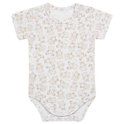Imagem 4 do produto Pack: 02 Bodies curtos para bebe em algodão egípcio c/ jato de cerâmica Nature Little Friends - Mini & Classic - 1024650 PACK 2 BODIES MC SUEDINE NATURE -M