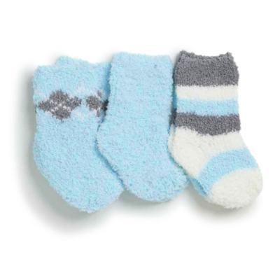 Kit com 3 meias soquete para recém nascido Soft Azul - Puket - PK6980-A RN TRIPACK SOFT VARIANTE AZUL-0/4