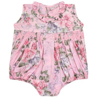 Imagem 1 do produto Macacão curto para bebe em tricoline Floral Deluxe - Roana - PIML0898046 PIMPAO LUXO ROSA -P