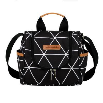 Imagem 3 do produto Bolsa 4 em 1 Sofia + Frasqueira térmica Emy + Necessaire Manhattan Preto - Masterbag