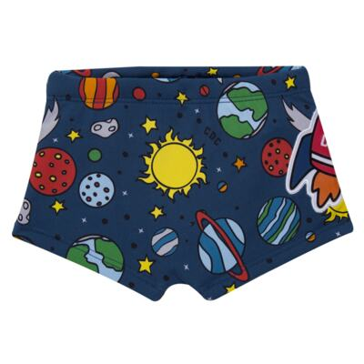 Imagem 3 do produto Conjunto de Banho Galaxy: Camiseta + Sunga - Cara de Criança - KIT 2 2578: SB2578+CCA2578 SUNGA E CAMISETA ESPACIAL-3