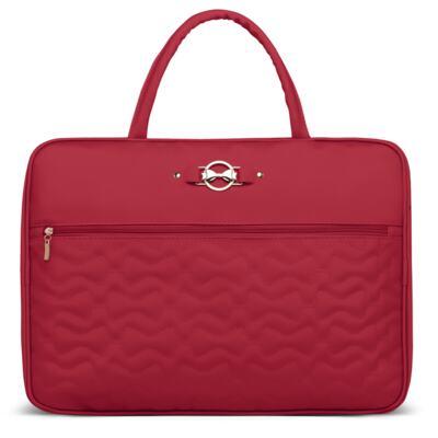 Imagem 2 do produto Mala Maternidade para bebe + Bolsa Liverpool + Frasqueira Térmica Melrose + Trocador Portátil Laços Matelassê Cereja - Classic for Baby Bags