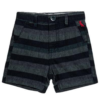 Bermuda para bebe Striped Jeans - Reserva Mini - AVESSO-M