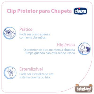 Imagem 2 do produto Clip Protetor para Chupeta Azul (0m+)- Chicco