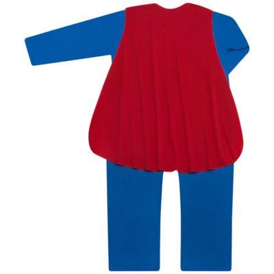 Imagem 4 do produto Fantasia Superman: Macacão longo com Capa em malha Stica Stica - Get Baby - 211063 MACACAO TODDLER LONGO M/L-2